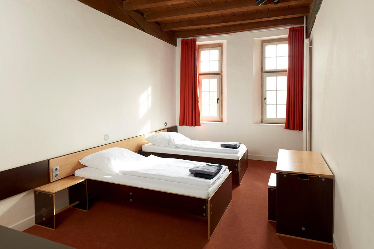 Kloster Frenswegen Hotel Zimmer Bett