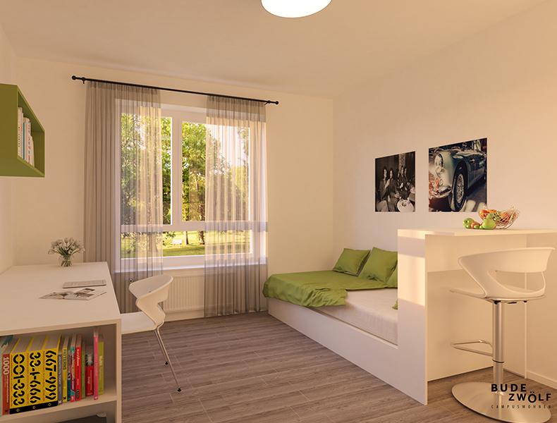 Studentenwohnheim Bett Rosink Zeichnung