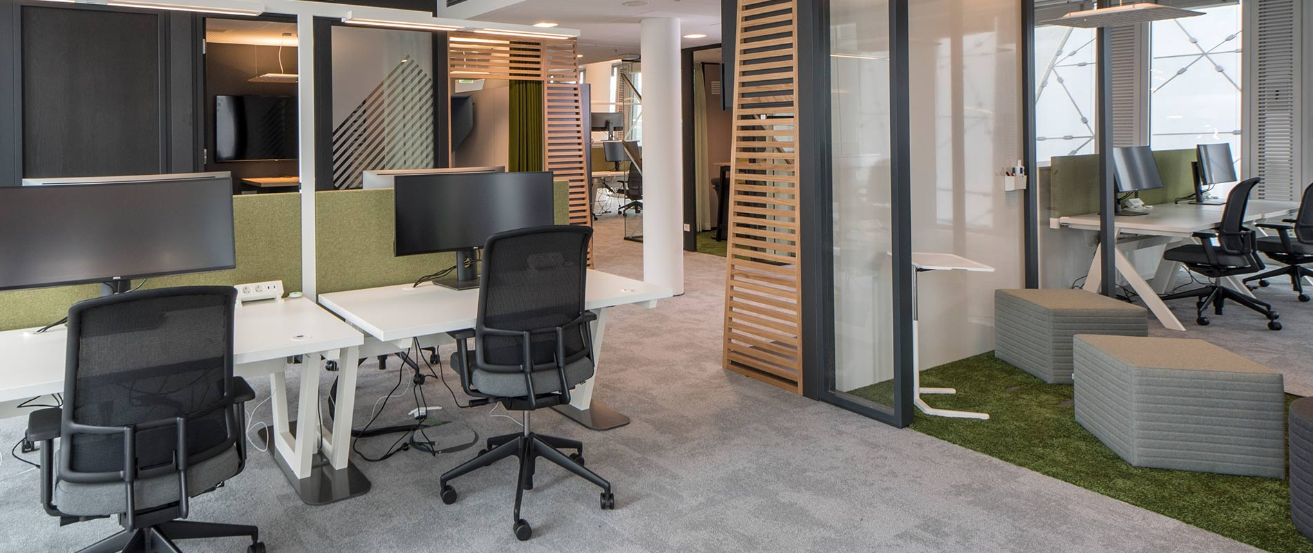 Bueroeinrichtung Office Lamellen Rosink Nordhorn Axa Frankfurt