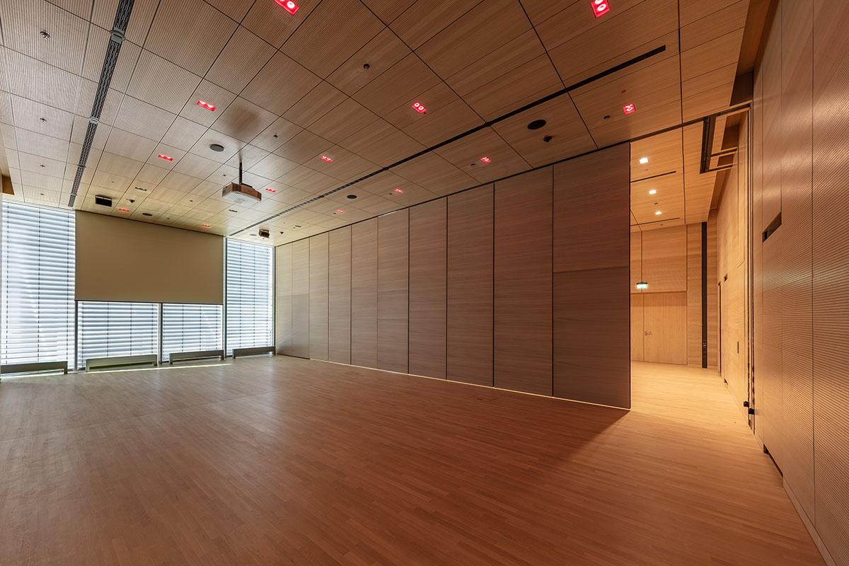 Messehalle Duesseldorf Konferenzraum Besprechung Wandverkleidun Rosink