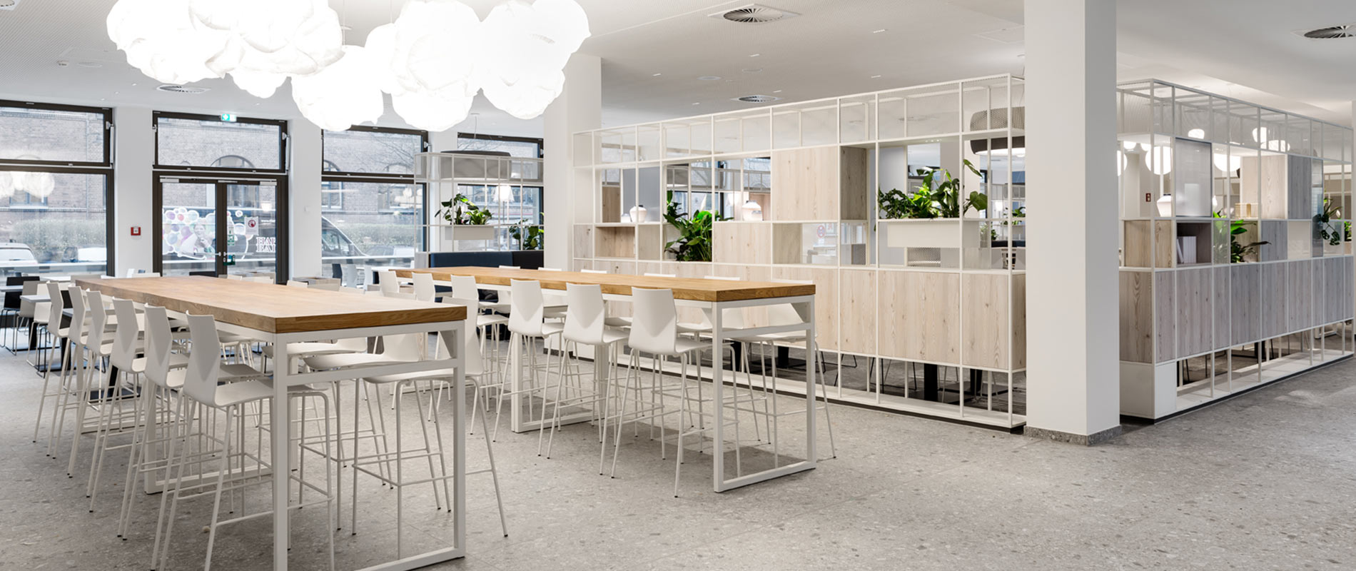 Cafe Rosink Nordhorn Kantine Bestuhlung Raumtrenner Euler Hermes Hamburg Neu