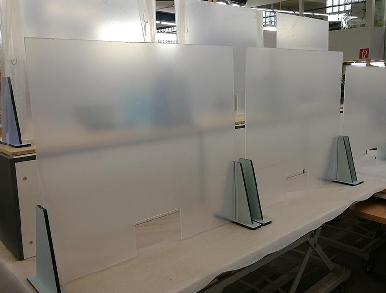Mobile Plexiglasscheibe Bedienplätze Rosink Nordhorn Objekteinrichtungen