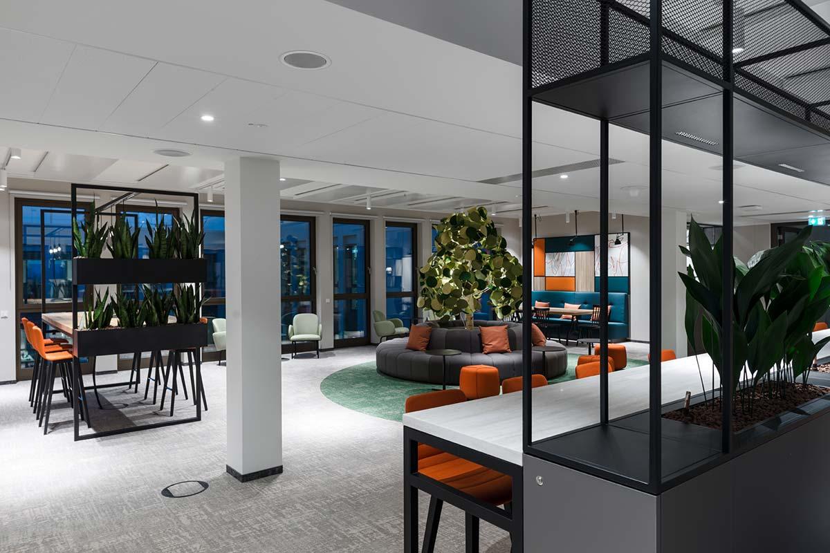 Objekteinrichtungen Sitzbank Wandverkleidung Schallabsorber Akstik Metall Rosink Nordhorn1